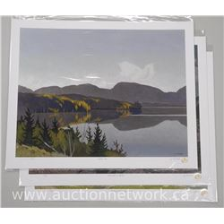 3x A.J. Casson (1898-1992) 'Through My Eyes' Giclee 17x22 Unframed with 24kt Gold Chop Mark. Plated