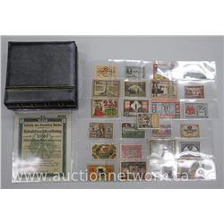 'German Notgeld' Collection C1920 with 25 Notes in Numis Binder