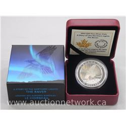 2015 .9999 Fine Silver $20.00 Proof Coin Northern Lights The Raven with Holograms (SSR) Limited Edit