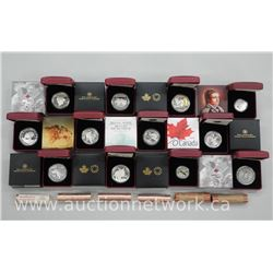 12 x Royal Canadian Mint .9999 Fine Silver Collector Coins. Limited Edition with Certs. All Mint Con