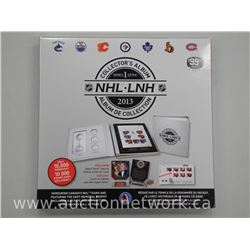 NHL Collector Album with Gretzky Card, Silver Plate Plaque, 3 x Medallions, 48 Page Book, Team Logos
