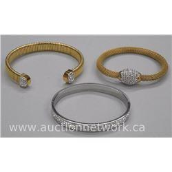 3x Chic Fancy Custom Bangle Bracelets with Swarovski Elements (ATTN: 3 Times the bid price)