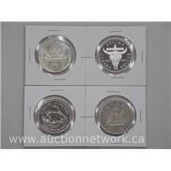 4x Canada Silver Dollar Coins: 1962,1982,1979 and 1949 (ATTN: 4 Times the bid price)