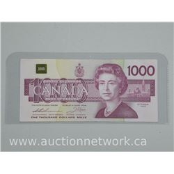 Bank of Canada 1988 One Thousand Dollar Note. Rare Note 'Recalled by Mint'