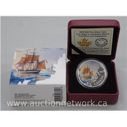 "2015 .9999 Fine Silver Proof Coin ""Franklin's Last Expedition"" Limited Edition #/7000 Worldwide (ssr"