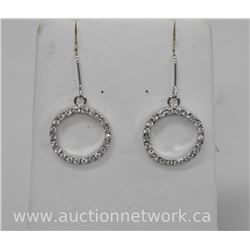 Ladies .925 Sterling Silver Circle of Life Drop Earrings with Bead Set Swarovski Elements.