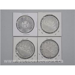 4x Canadian Silver Dollar Coins (1961,1962,1963,1964) (ATTN: 4 Times the bid pride)