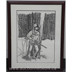 """James Farthing"" Litho ""The Hunter"". Circa 1990, Limited Edition 121/200, Gallery Framed and Hand Si"