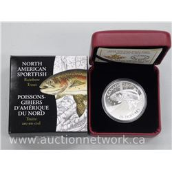 2x .9999 Fine Silver $20.00 Royal Canadian Mint Coins. 'Rainbow Trout' Limited Edition with Certific