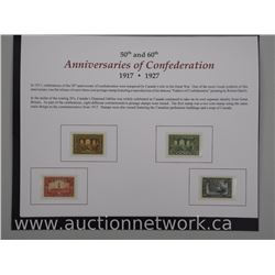 50th and 60th Anniversaries of Confederation Collection 1917 and 1927. Unused Mint Condition. This C