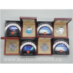4x .9999 Fine Silver Natural Wonders of The World Coins - wood Case Limited Edition with Certs (ATTN