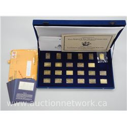 'The Tall Ships of The World' 24kt Gold on Solid Bronze Ingot Collection - 23pcs Only. Subscription