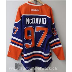 "Connor McDavid Edmonton Jersey signed with cert. ""Investment Sports"""
