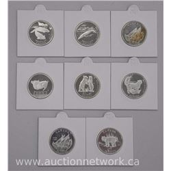 8x .925 Sterling Silver Canada 50 Cent Coins (ATTN: 8 Times the bid price)
