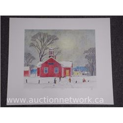 A.J. Casson (1898-1992) Platinum Portfolio Image 'School House' Watercolor series. Signed and Number