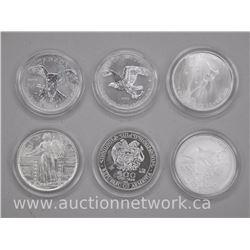 6x .9999 Fine Silver Collector Bullion - Rounds (ATTN: 6 Times the bid price)