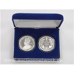 Tribute to Canada 2 Coin Set. 2006 - Cook Islands - Silver Set