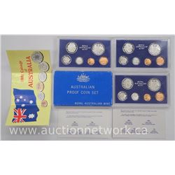 3x Royal Australian Mint Coin Sets: PROOF 1978,1979-1981. (ATTN: 3 Times the bid price)