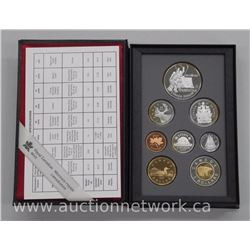 1997 .925 Sterling Silver 8 Coin Proof Mint Set with Hockey Dollar
