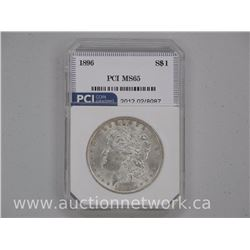 1896 USA Silver Morgan Dollar Coin MS65 PCI US CAT: $250.00