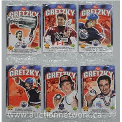 6x 'Wayne Gretzky' POST Cereal Inserts by Upper Deck - Mixed Career Milestones - Unopened. (ATTN: 6