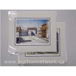 2x A.J. Casson (1898-1992) Giclees 'Early Morning' and 'A Quiet Street' 10x13 Unframed. (ATTN: 2 tim