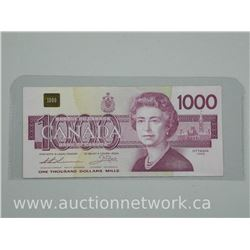 Bank of Canada 1988 One Thousand Dollar Note.