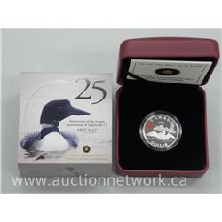 2012 - Fine Silver Lucky Loonie SOLD OUT. Limited Edition with Cert. 25 Year (1987-2012)