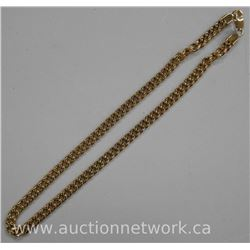 "24"" Stainless Steel Necklace with 24kt Gold Plate. MSR: $108.00"