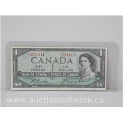 Bank of Canada 1954 One Dollar Notes. Rare Serial Number (3111111 H/L)