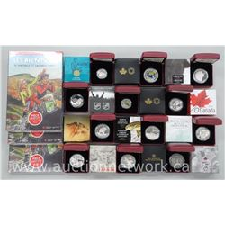12x Royal Canadian Mint .9999 Fine Silver Collector Coins with Limited Edition / Certs. Bonus - 2 Gi