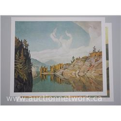 "2 x A.J Casson (1898-1992) Ontario II Series Litho's. ""Morning on the Key River"" and ""Lake Kashagawi"