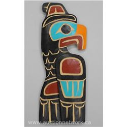 "Original Wood Carving ""Haida"" Indian Art from B.C by Cody Mathias of Thunderbird Coast Salish North"