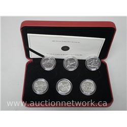 2005 - 6 Coin Set .925 Sterling Silver Limited edition Battle of Britain with Certs.