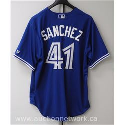 "Toronto Blue Jays Jersey signed by ""A. Sanchez"" with cert. (mmr)"