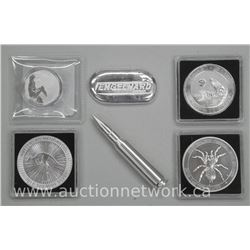 6x .999-.9999 Fine Pure Silver Collector Bullion - 4 Rounds, Bullet, 2 ounce Loaf Bar (ATTN: 6 Times