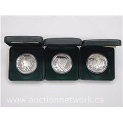 3x .9999 Fine Silver Proof Silver Dollar Coins 2000, 2001, 2003 with Cert(ATTN: 3 times the bid pric