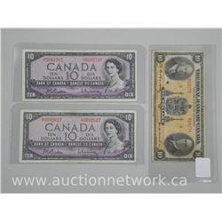 3x Canada Ten Dollars: (2) 1954 M.P. and (1) Royal Bank 1935 (ATTN: 3 Times the bid price)
