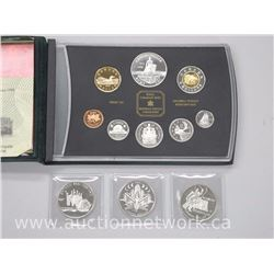 1998 Sterling Silver Proof Mint Set and 3 x .925 Sterling silver Dollars (1992, 1997, 2000)