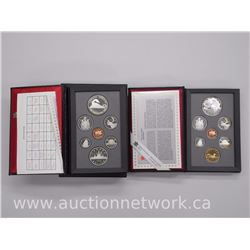 2x Canada Double Dollar Mint PROOF Coin Sets with Silver Dollar Coin .1986-1996 (ATTN: 2 Times the b