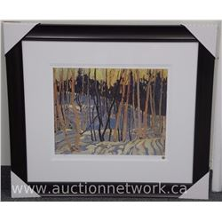 Tom Thomson (1877-1917) Giclee 'Snow Shadows' Gallery frame with Gold Seal. 34 x 38