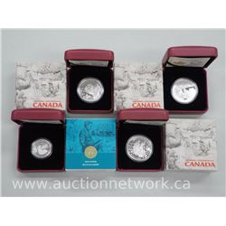 4x .9999 Fine Silver Limited Edition Collector Coins 'Exploring Canada' and 'War Stories' (ATTN: 4 T