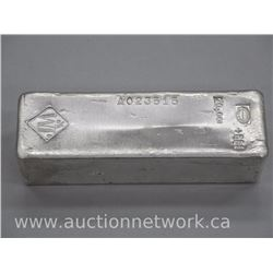 "JM .999+ Pure Fine Silver Poured 100 Ounce Loaf Bar. ""RARE- No Longer in Production"""
