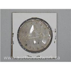 1936 Canada Silver Dollar Coin.