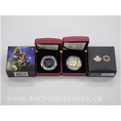 2x Royal Canadian Mint .9999 Fine Silver High Tech Collector Coins - R.O.M. and Quest (ATTN: 2 Times