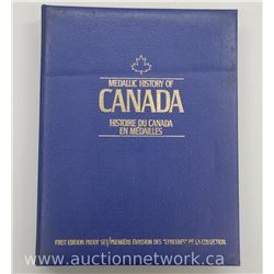 Estate - 50pc Set 'Medallic History of Canada' 50 Bronze Medallions. Book Complete with Aging Marks