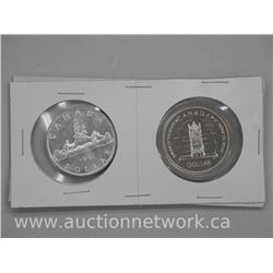 2x Canada Silver Dollar Coin 1957 and 1977 (ATTN: 2 times the bid price)