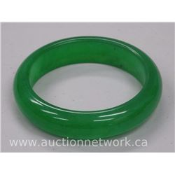 Ladies Jade Gemstone Bangle Cuff Bracelet.