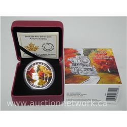2015 .9999 Fine Silver $20.00 Autumn Express Limited Edition Coin.