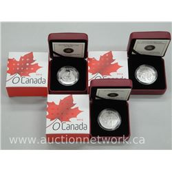 3x .9999 Fine Silver Royal Canadian Mint Collector Coins: RCMP, Hockey, Beaver. (ATTN: 3 Times the b